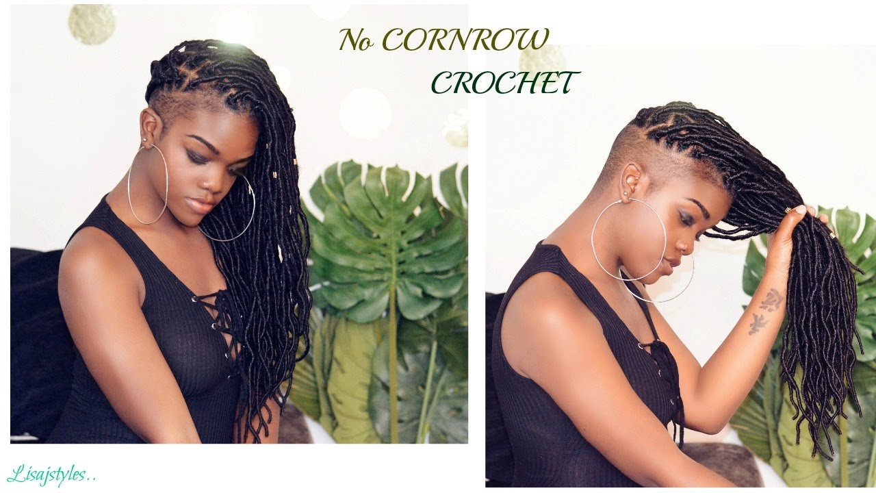 No Cornrow Crochet Faux Locs Easy 30min Install Youtube