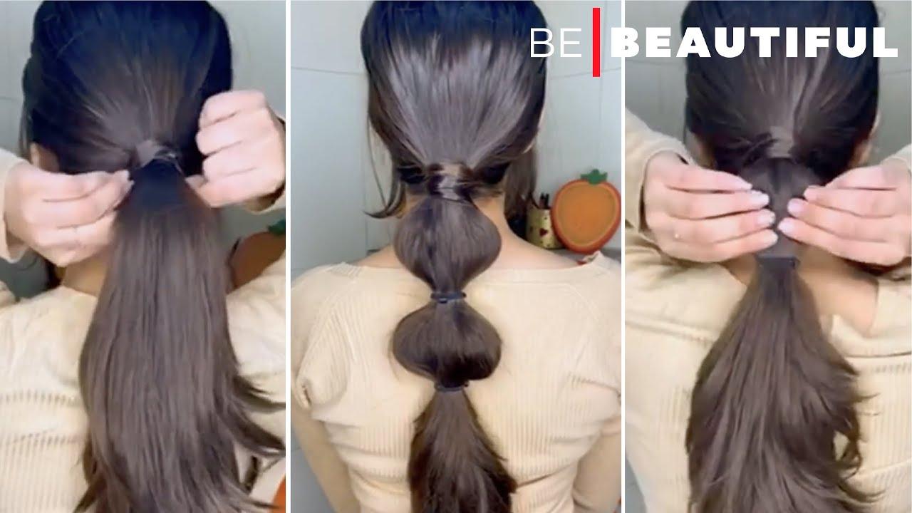 Cute Bubble Ponytail #hairstyle #easyhairstyles #hairstylesforgirls #YTShorts #hair #trendingnow
