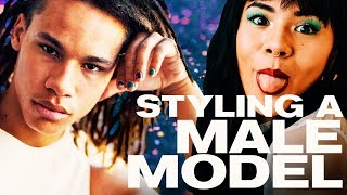 Styling a Male Model in 10 Minutes! ~ NAYVA Ep #21 ~ BEAUTY & FASHION EVERY WEEK