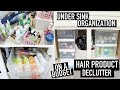 How to Organize Under Bathroom Sink Organization & DECLUTTER Hair Products & Skincare