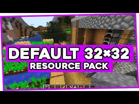 minecraft default texture pack 1.8 32x32 download