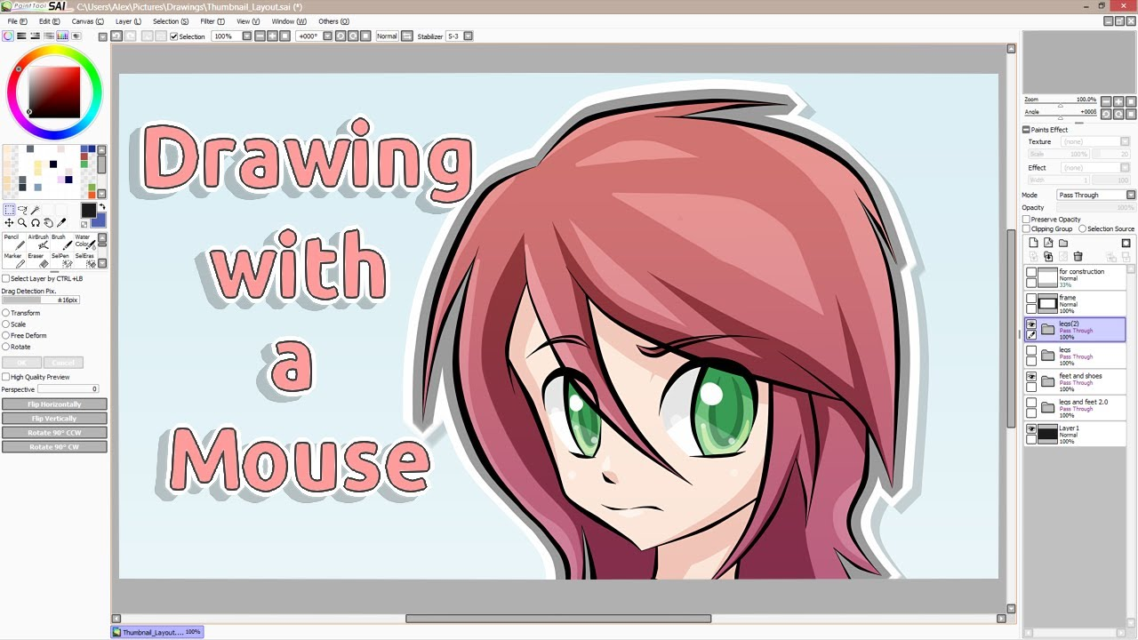 How to draw in Paint Tool Sai Description of the program and instructions for use