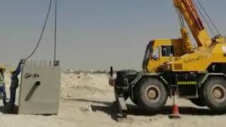 Krain(exevator) Driving in Dubai. How can you lift hundreds of ton with the help of krain(exevator)
