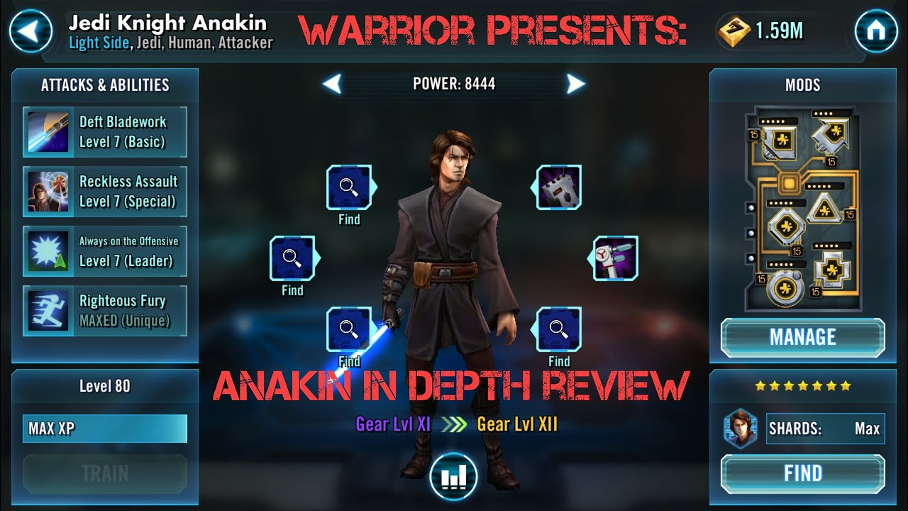 Swg Clone Wars Mod: Star Wars Galaxy Of Heroes Jedi Knight Anakin Character