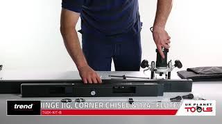 Trend T4 Wood Router With Hinge Jig Corner Chisel | UK Planet Tools