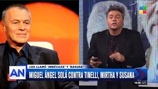 Miguel Ángel Solá, muy duro: llamó