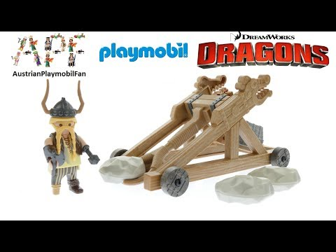 Playmobil Drachenzähmen Leicht Gemacht 9245 Grobian mit Katapult -Playmobil Build Review