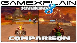 Mario Kart 8: Grumble Volcano Wii Head-to-Head Comparison (Wii U vs. Wii)