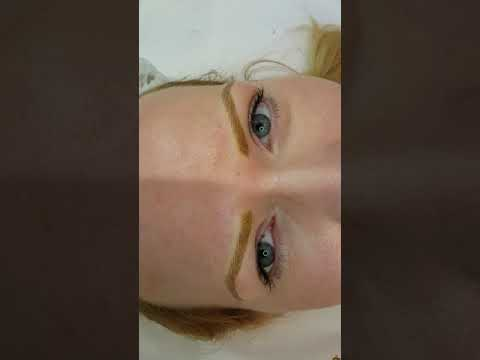 Strawberry Blonde Eyebrows Microblading by El Truchan @ Perfect Definition