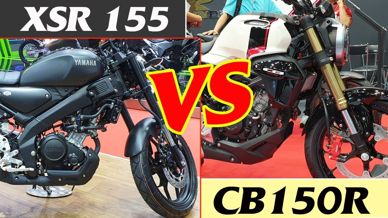 Honda Cb150r 2019 Vs Yamaha Xsr 155 2019 Youtube