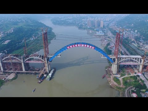 World's longest road-rail bridge linked in China