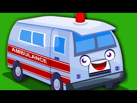Ambulance Song  Original Nursery Rhymes From Zebra  Vehicle Song For Kids And Childrens