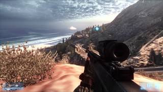 Battlefield 3 | Singleplayer weapons: Barrett M82 .50 caliber BMG and strange knife | awesome sound