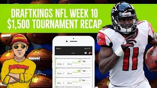 DraftKings NFL Week 10 🏈💲$1,500 Tournament Review (Live Stream)