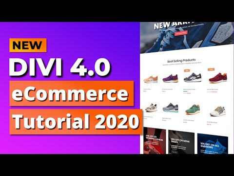 How to Create an eCommerce Website with Divi 4.0 and WordPress - ONLINE STORE 2020! thumbnail