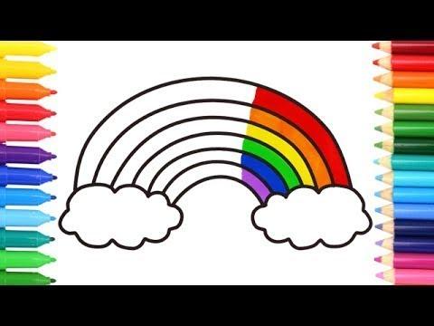 Как нарисовать Радугу | Раскраска для детей | Учим цвета ...