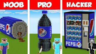 Minecraft NOOB vs PRO vs HACKER: PEPSI HOUSE BUILD CHALLENGE in Minecraft / Animation