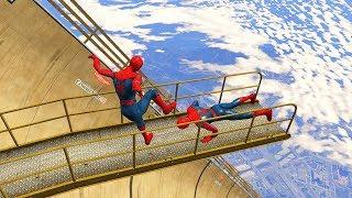 GTA 5 Crazy SPIDERMAN Ragdolls EPIC (Euphoria Physics, Ragdolls, Fails, Funny Moments)