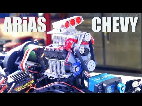 RC ADVENTURES - 960hp+ ARiAS / CHEVY BiG BLOCK V8 ENGiNE UPGRADE - ULTRA 4 TRUCK - AXiAL BOMBER