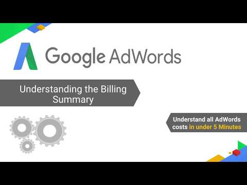 Understanding the Billing Summary and AdWords Costs - English(IN) Audio