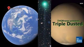 Triple Dusted: Current Earth & Mars Dust Storms + New & Old Comet Dust