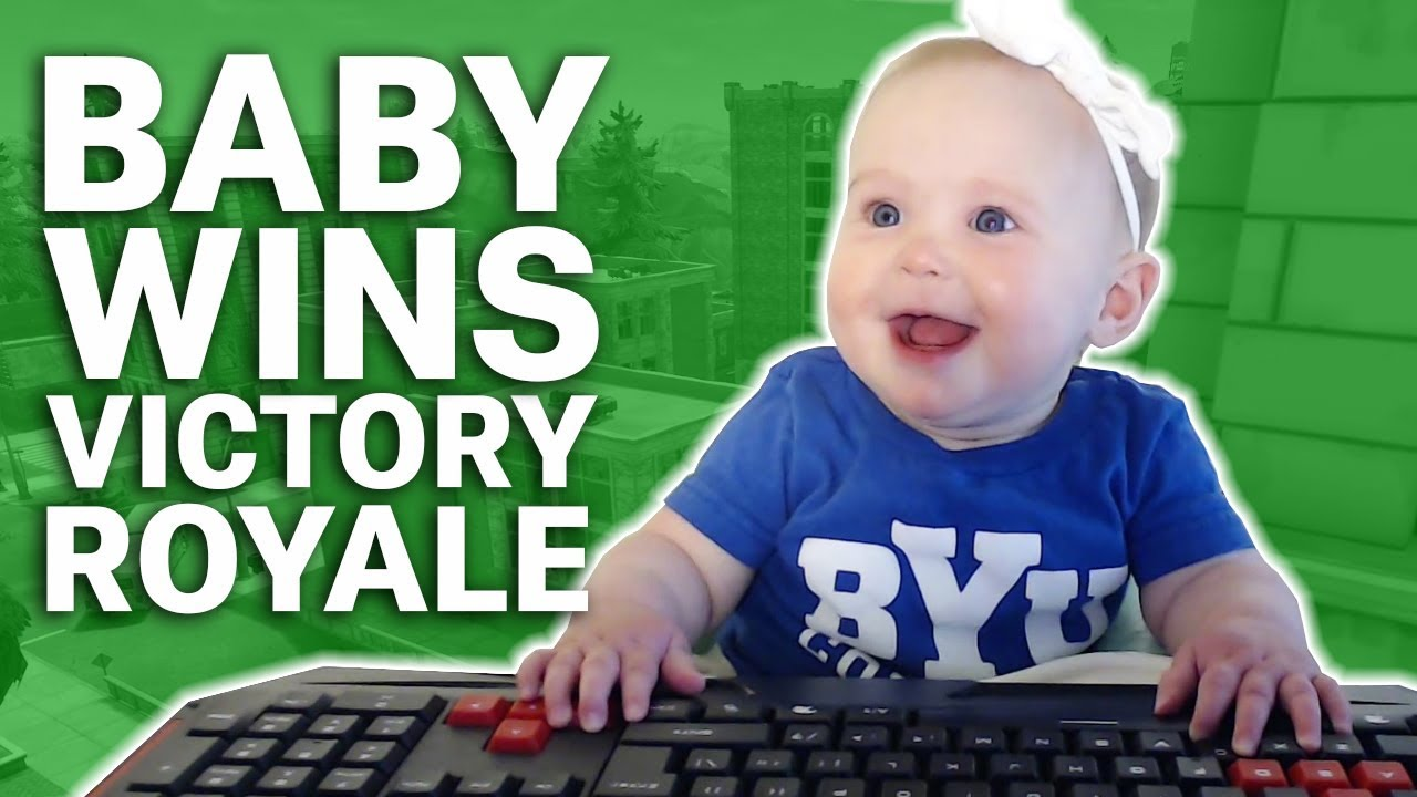Baby Wins Victory Royale in FORTNITE!