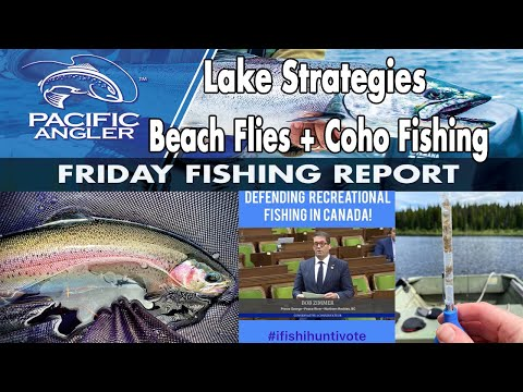 Vancouver Fishing Report - July 24th Lake Strategies + Saltwater Salmon Updates And Beach Flies