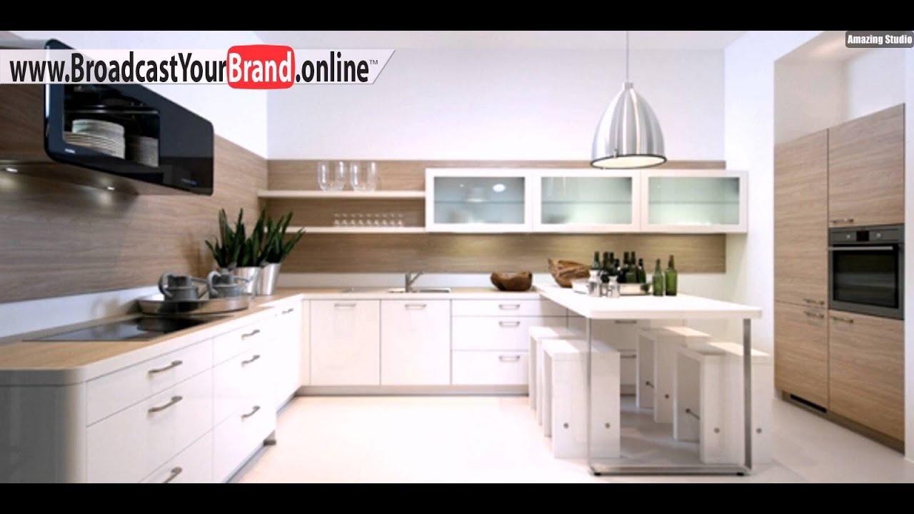 Weiße Küchenschränke Moderne Designer Küchen Von Nolte   YouTube
