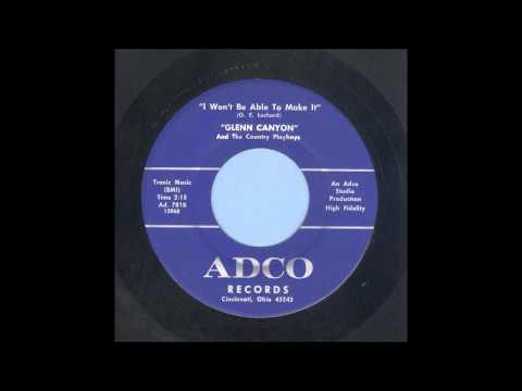 Glenn Canyon - I Won't Be Able To Make It - Rockabilly 45