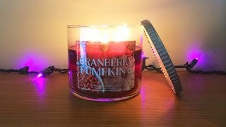 Cranberry Pumpkin Candle Review - Bath & Body Works, White Barn Exclusive