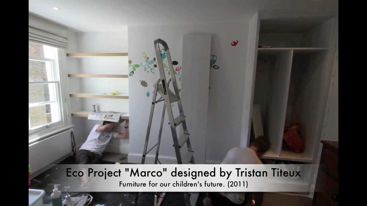 """Childrens Fitted Bedroom Furniture: Video 5 Eco Children's Bedroom Project """"Marco"""" Eco Fitted"""