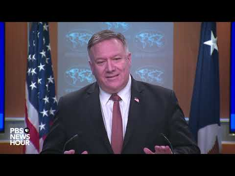 WATCH: Secretary of State Mike Pompeo to speak on COVID-19 outbreak