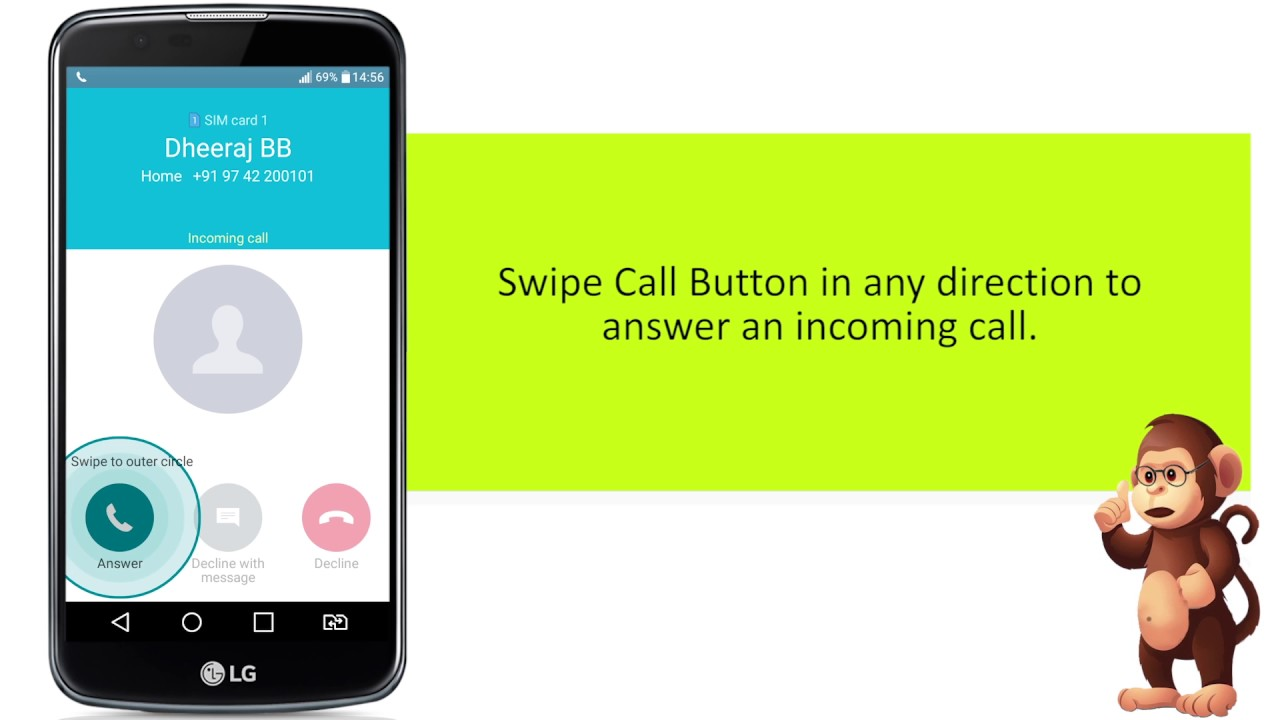 LG How To Use Answering and rejecting a call Support for Apple Samsung  smart phones user guide