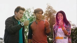 "Power Rangers Dino Charge - Riley meets Tyler and Shelby | Episode 2 ""Past, Present, and Fusion"""