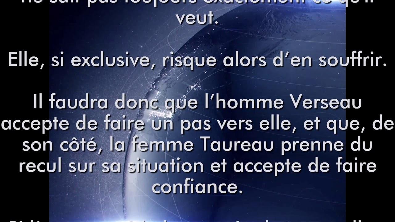 Compatibilité Verseau Taureau femme taureau et homme verseau - youtube