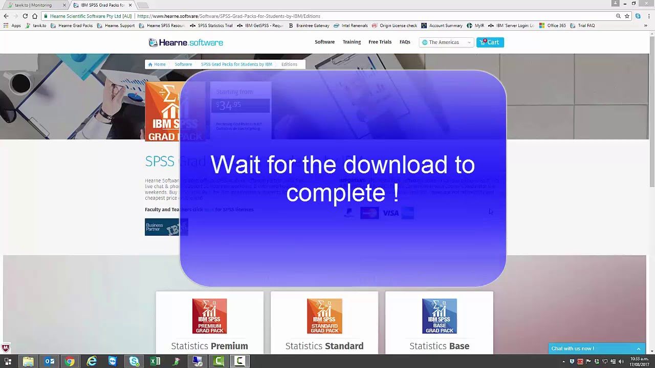 IBM SPSS Grad Pack 25 or 26 Installation for Windows by Hearne Software