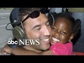 Little girl rescued from Hurricane Katrina reunited with the airman who saved her