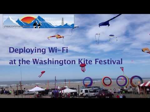 CRESCOMM WIFI at the Washington State International Kite Festival