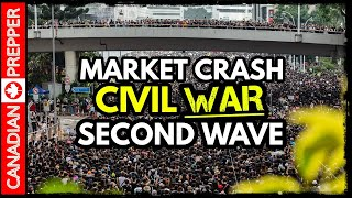 Market Crash, Civil Conflict, Second Wave and Defunding Police