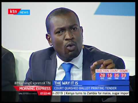 Lawyer Edwin Sifuna explains why IEBC CEO Ezra Chiloba is still facing charges over procurement
