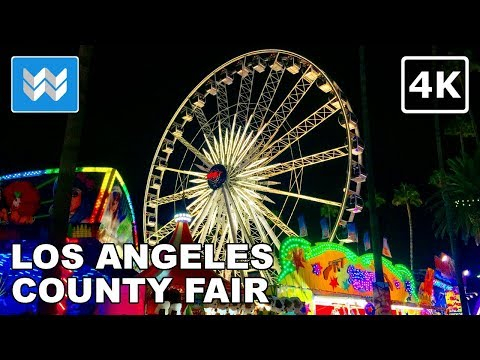 Walking tour of LA County Fair 2018 at night in Pomona, Cali