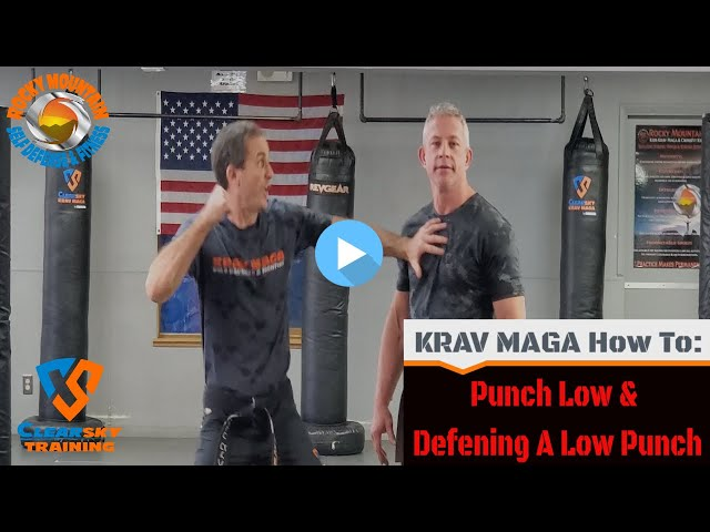 How To Throw A Straight Punch Low With The Defense Against |Krav Maga