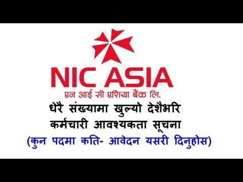NIC Asia Bank Job Vacancy Notice 2021