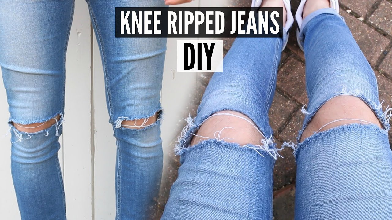 Diy knee ripped jeans tutorial 2018 how to style youtube solutioingenieria Gallery