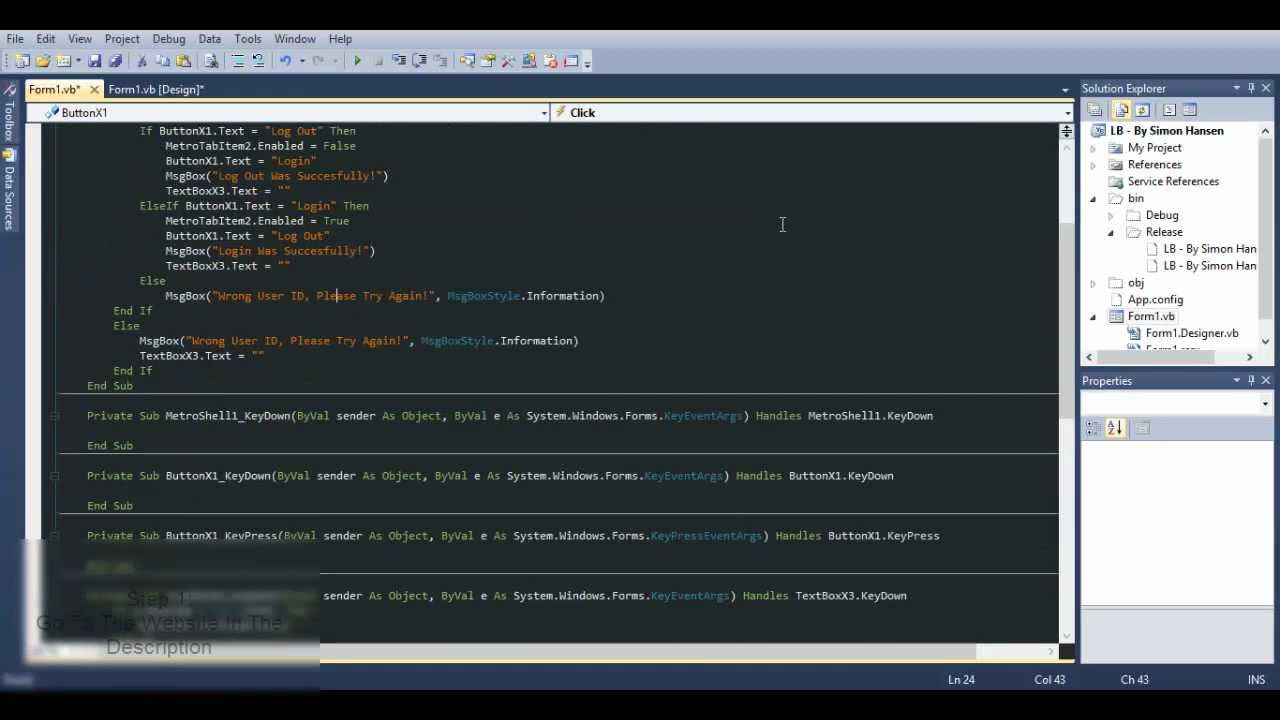 How To Change Color Scheme On Visual Basic - Tutorial