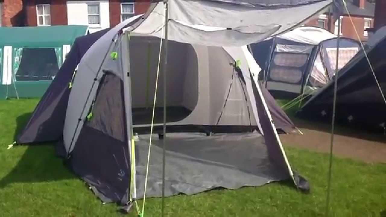 Sunnc& Trek 600 6 berth family tent & Sunncamp Trek 600 6 berth family tent - YouTube