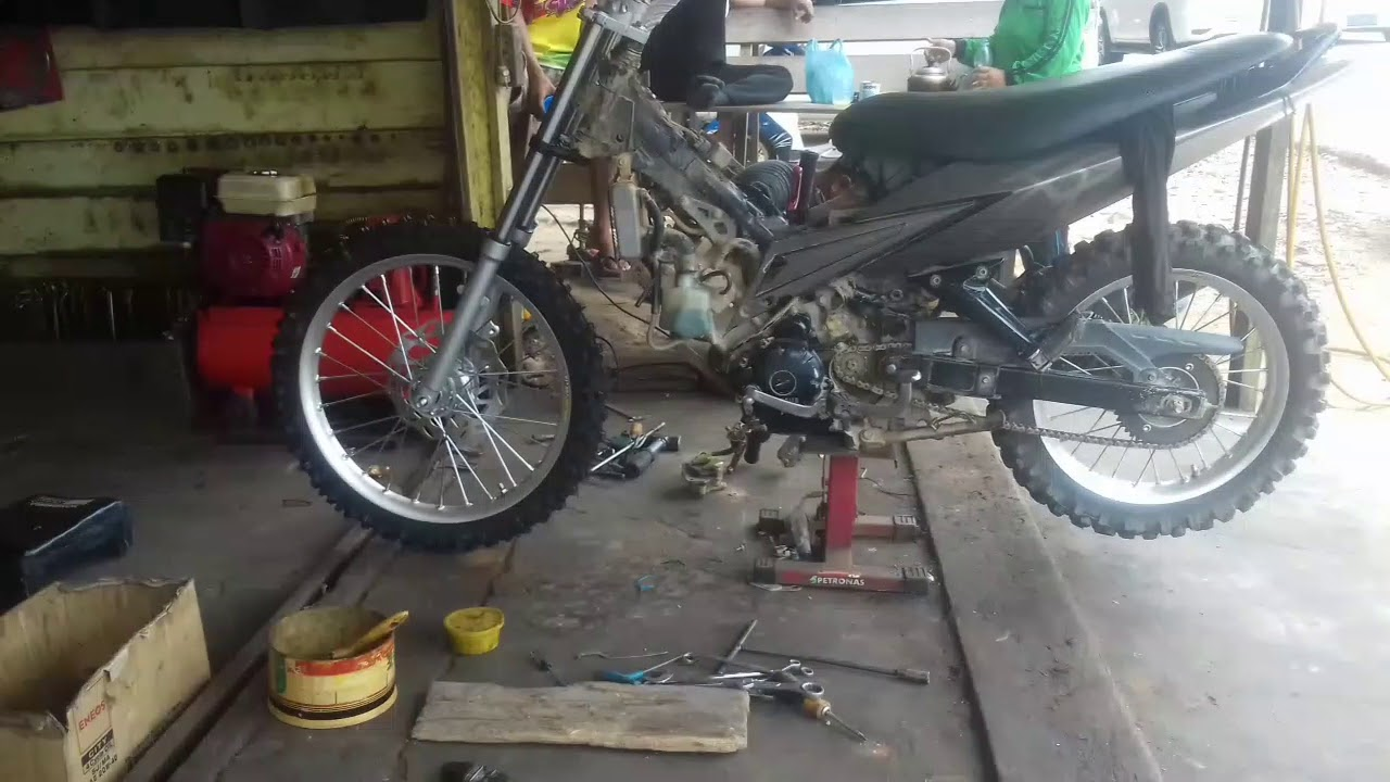 Jupiter Mx Modif Trail Standar Part 01 Youtube