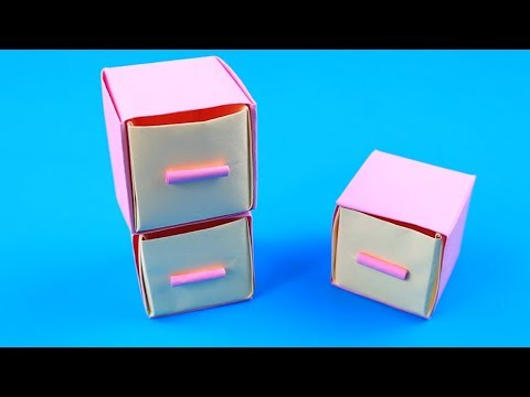 How To Make Paper Drawer Storage Box | Origami Drawer Storage Box | Easy Origami Tutorial