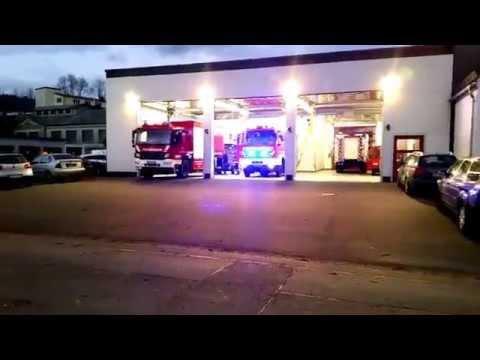 Einsatzalarm Feuerwehr Selbitz zu VU auf die A9 am 19.11.2015.