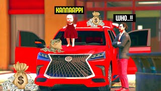 GTA 5 RP : Father-Baby Bank Robbery!! MALAYALAM TECHIES